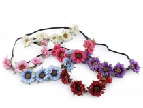 Stretch Boho Headband with Flowers