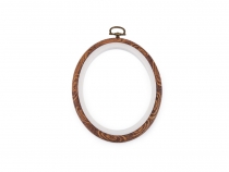Cross Stitch / Embroidery Oval Frame to Hang 11x13.5 cm
