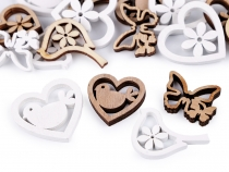 Wooden Decoration for DIY Craft- Heart, Butterfly mix of sizes
